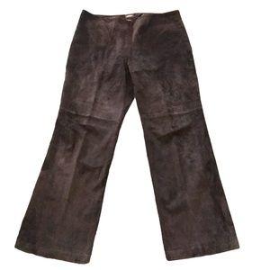 Danier brown suede leather pants 12